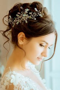 wedding day hairstyles at Steven Scarr hair salon in Durham