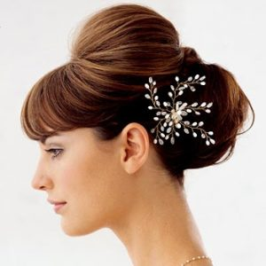 bun hairstyles for brides at Coxhoe hairdressing salon