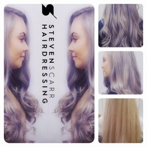 pastel hair colours at steven scarr hairdressing coxhoe
