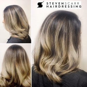 balayage and ombre hair colours at steven scarr hair salon in coxhoe, durham