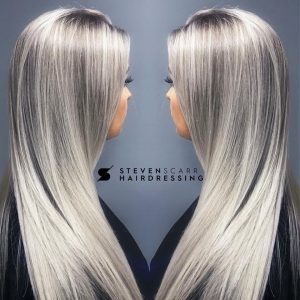 long and mid length hair cuts and styles at steven scarr hair salon in coxhoe