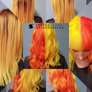 hair colour at steven scarr hairdressing in coxhoe, durham