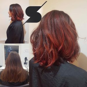 mid length hair cuts and styles at steven scarr hair salon in coxhoe