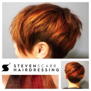 short hair cuts and styles at steven scarr hair salon in durham