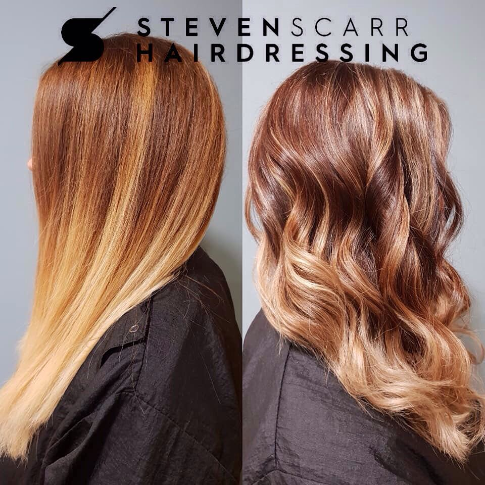 the best balayage and ombre hair colours at steven scarr hair salon in coxhoe