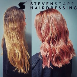 hair colour correction services at steven scarr hair salon, durham