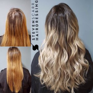 Root Shadowing, Root Stretching & Colour Melts at steven scarr hair salon durham