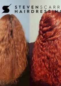 THE BEST RED HAIR COLOURS AT STEVEN SCARR HAIR SALON, DURHAM
